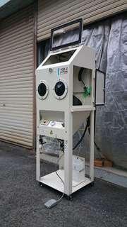 小型循環式サンドブラスト機 ASB-2型+ペンシルmini-�U(吸引式)x2台�@